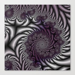 Purple and Gray Canvas Print