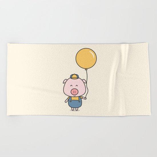 Little Piggy Beach Towel