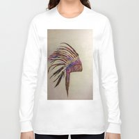 native american Long Sleeve T-shirts featuring Native  by Emily Bingham