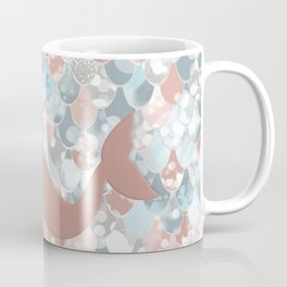 Elegant Mermaid Blush, Pink, Coral, Aqua, Teal Coffee Mug