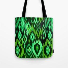 MODERN IKAT TRIBAL PATTERN | green Tote Bag