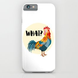 Rude Rooster iPhone Case