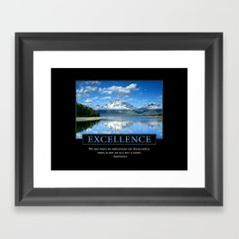 Excellence Poster: Aristotle Quote Framed Art Print