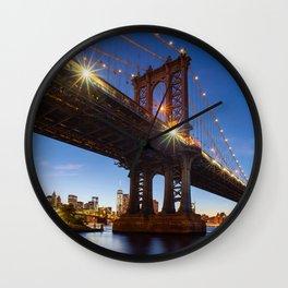 Manhattan Bridge Light night Wall Clock