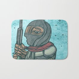Zapatist mexican soldier Bath Mat