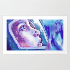 Blue Under Art Print