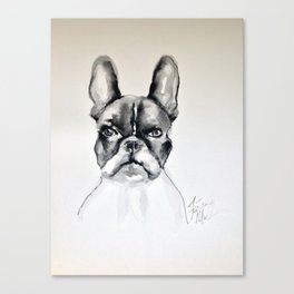 Portrait of a French Bulldog Canvas Print