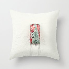 Christmas Eve in a hurry Throw Pillow