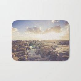 Golden hour, rocky beach Landscape - Photography #Society6 Bath Mat
