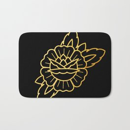 Gold Traditional Rose Bath Mat