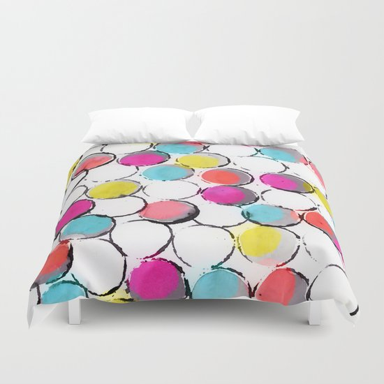 Circle Painting  Duvet Cover