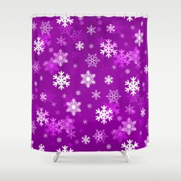Light Lilac Snowflakes Shower Curtain