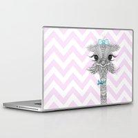 ostrich Laptop & iPad Skins featuring OsTRICH by Monika Strigel