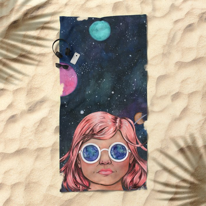 The Universe In Your Eyes Beach Towel
