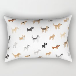 Lots of Cute Doggos Rectangular Pillow