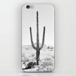 Cactus BW iPhone Skin