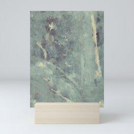 Blue Concrete Abstract #1 Mini Art Print