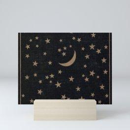 Book Cover Moon Mini Art Print