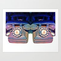 telephone Art Prints featuring Telephone by Parastar Arts