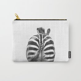 Black and White Zebra Tail Carry-All Pouch