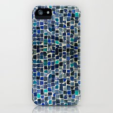 Blue and green tiles iPhone SE Slim Case
