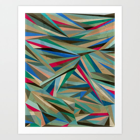 Travel Fragments Art Print