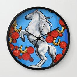 'HORSESHOES' - Ruth Priest Wall Clock