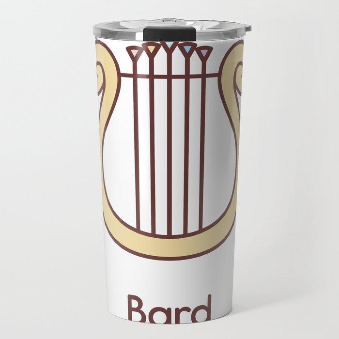 Cute Dungeons and Dragons Bard class Travel Mug