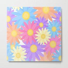 Floral Daisy Dahlia Flower Metal Print