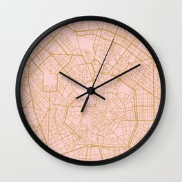 Milano map Wall Clock