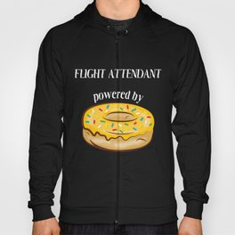 Flight Attendant T-Shirt Flight Attendant Powered By Donuts Gift Apparel Hoody