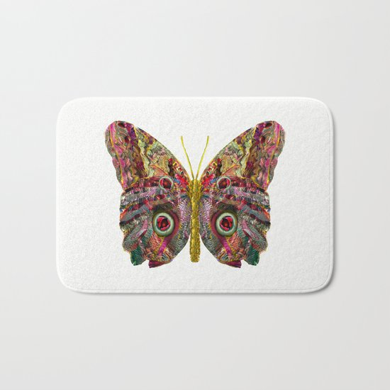 Float Like A Butterfly Bath Mat