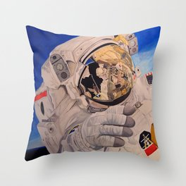 Astronaut in space, man. Throw Pillow