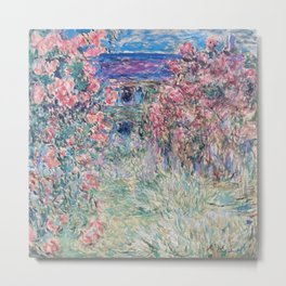 The House among the Roses by Claude Monet Metal Print