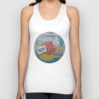 newspaper Tank Tops featuring Newspaper box Freemont Seattle by RMK Photography