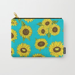 Sunflower Grunge Pattern Carry-All Pouch