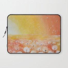 Sunrise and Dandelions, Watercolor Laptop Sleeve