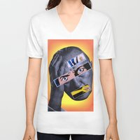 comic book V-neck T-shirts featuring Comic Book Guy by Tyler Hewitt