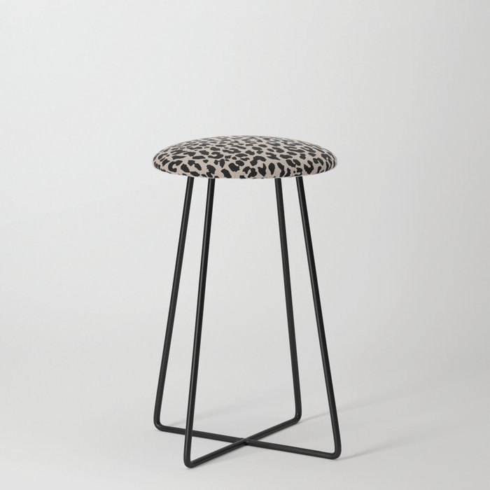 Tan Leopard Counter Stool