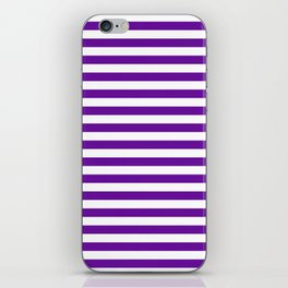 Halloween Two color stripes Violet and White iPhone Skin