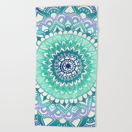 Deep Forest Flower Beach Towel