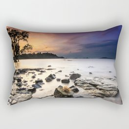 Stony Shore at Sunset Landscape Rectangular Pillow