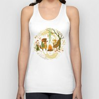lady gaga Tank Tops featuring Animal Chants & Forest Whispers by Teagan White