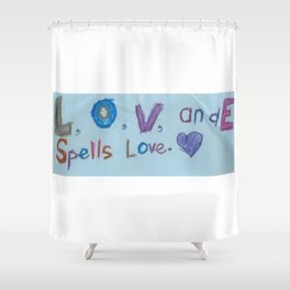 Sami's Art (age 7) Shower Curtain