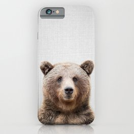 Grizzly Bear - Colorful iPhone Case