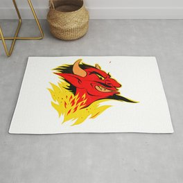 elDiablo Devil Head (Distressed) Rug