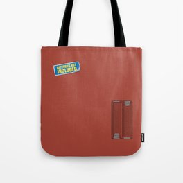 Batteries Not Included ~ Medium Carmine Tote Bag