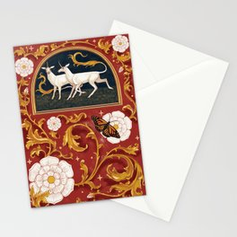 There are unicorns in the garden Stationery Cards