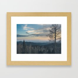 Santa Fe Sunset Framed Art Print