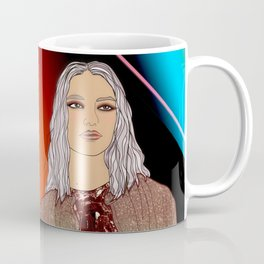 Social Jetlag - Mean Girls Stare, Nice Girls Smile - Digital Art Coffee Mug